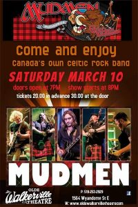 Mudmen: 20th Anniversary Old Plaid Shirt Tour Poster For Olde Walkerville Theatre