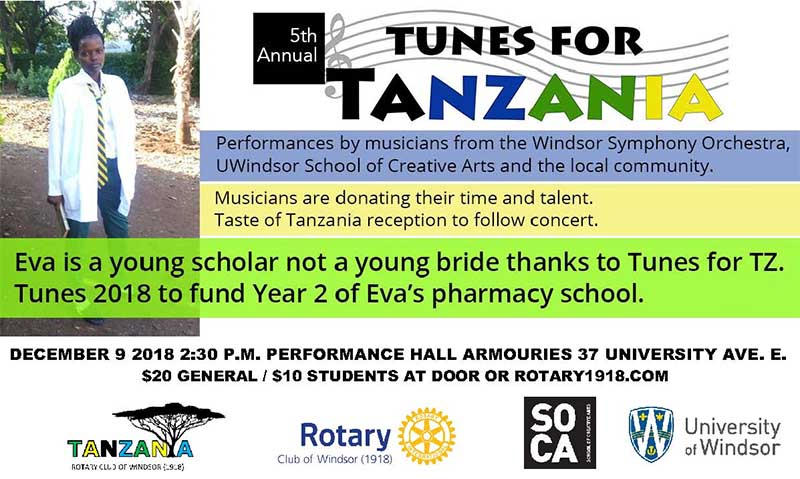 Tunes For Tanzania Windsor Poster
