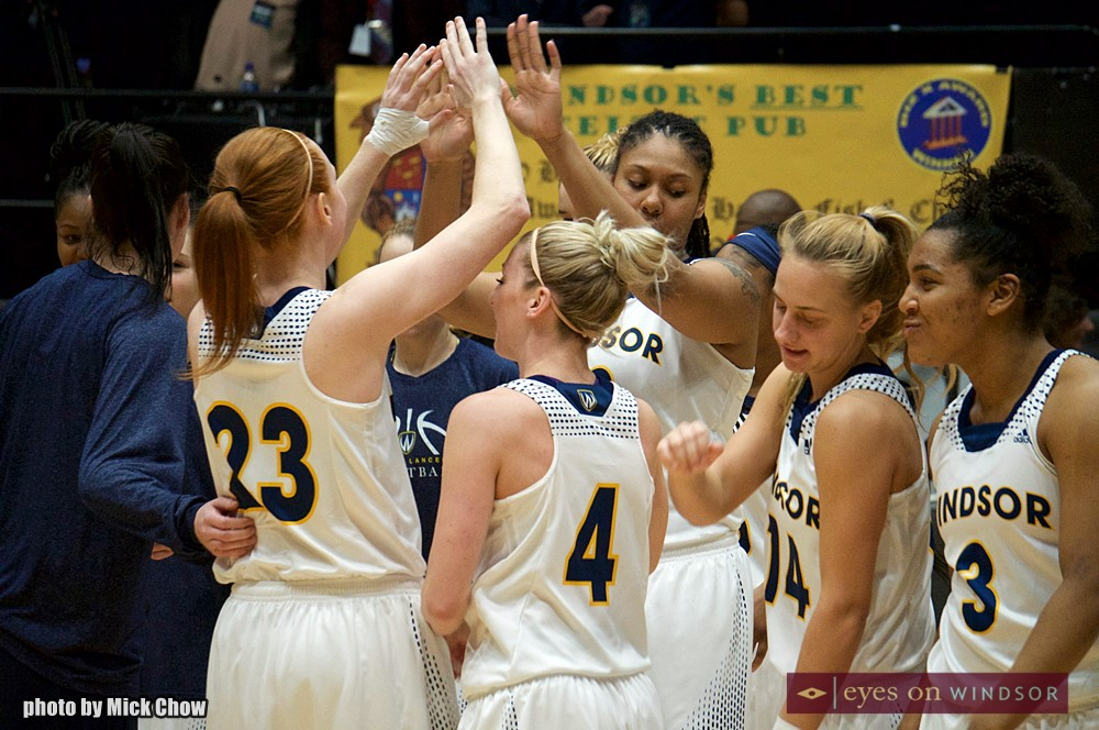 University of Windsor Lancers Women's Basketball Team Celebrate Victory at Clash of the Colosseum IV.