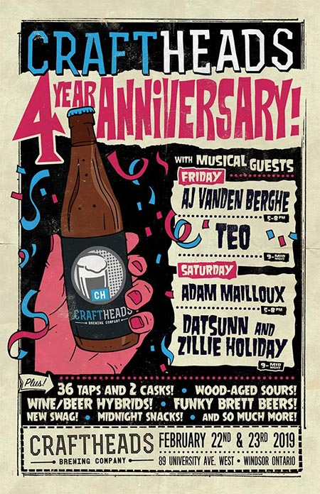 Craft Heads Anniversary Poster