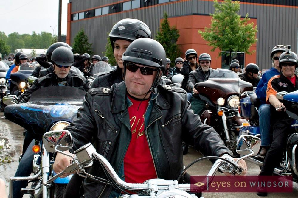 Ride Captain Darren Mccarty Leads The 5th Annual Bob Probert Ride.