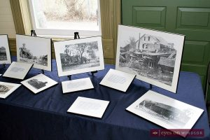 Photographs of the 1907 explosion at the Essex Railway Station on display during Blasts From Our Past.
