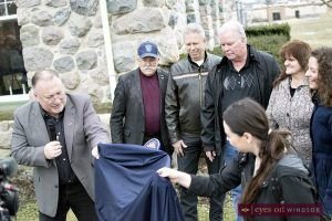 Town of Essex Officials including Mayor Ron McDermott and Deputy Mayor Richard Meloche along with Heritage Essex Inc. Committee members unveil Essex Railway Station Heritage Plaque on February 12, 2017.