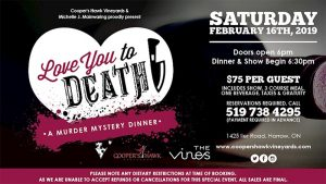 Love You To Death Murder Mystery Dinner featuring Michelle Mainwaring Poster