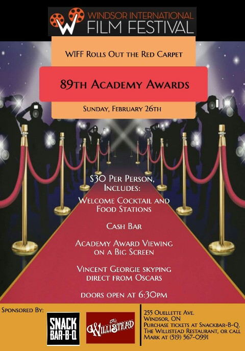 Wiff Academy Awards Viewing Party Windsor On