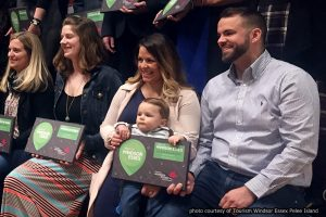 wners of The Iron Kettle Bed & Breakfast, Chef Benjamin Leblanc his wife Ginette Tremblay with their child hold their 2017 Best of Windsor Essex Award