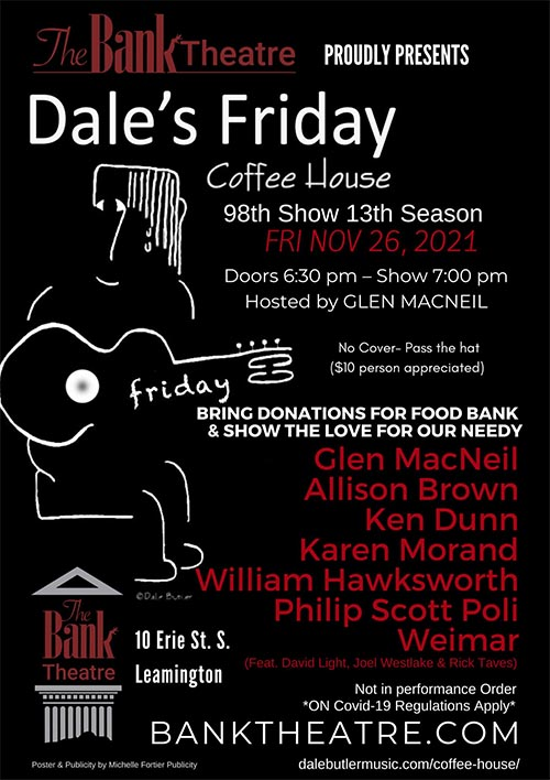 Dale's Friday Coffee House Poster