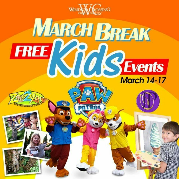 March Break at Windsor Crossing Premium Outlets
