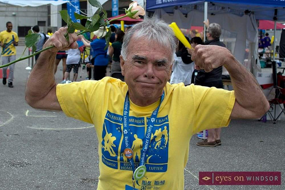 Man Crosses Finish Line at Canadian Cancer Society Relay For Life is Windsor