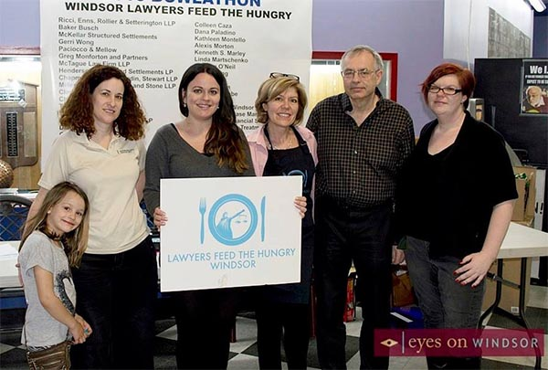 Participants at the annual Windsor Lawyers Feed The Hungry Bowl-A-Thon