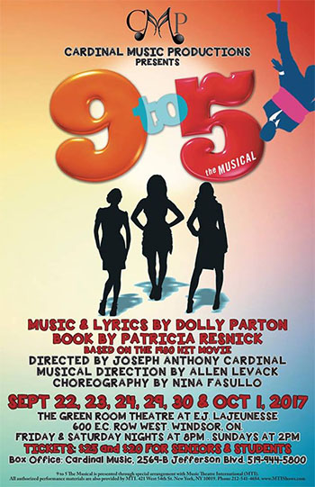 Cardinal Music Productions Presents 9 to 5 Poster
