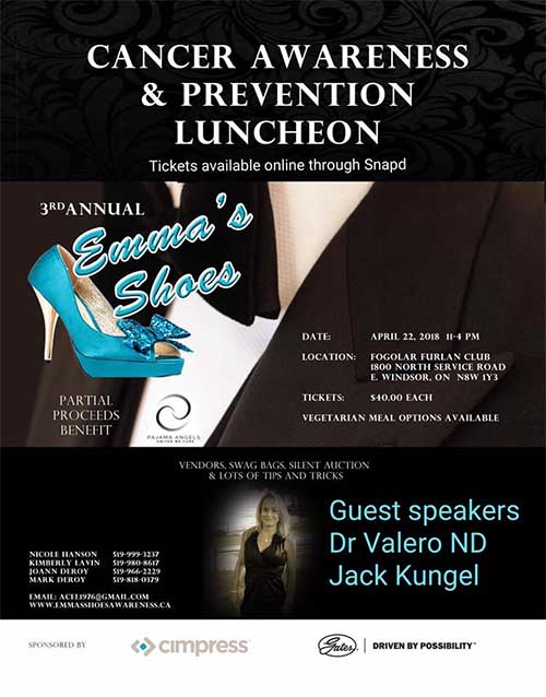 Emma's Shoes, An Evening of Cancer Awareness and Prevention (Poster)