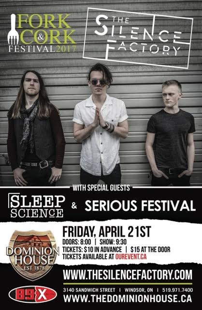 Fork and Cork Festival Launch Party Concert featuring The Silence Factory, Sleep Science and Serious Festival Poster