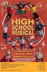Disney's High School Musical Jr Poster Chrylser Theatre