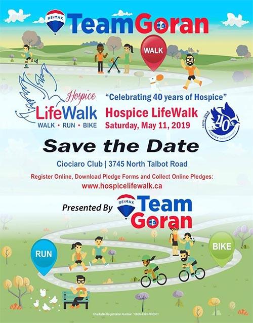 Life Walk Hospice Windsor Poster