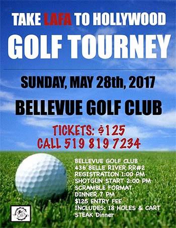 Take LAFA To Hollywood Golf Tournament Poster