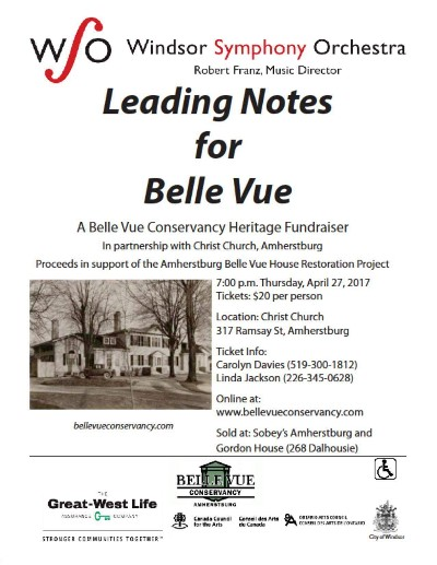 Windsor Symphony Orchestra Leading Notes For Belle Vue Poster