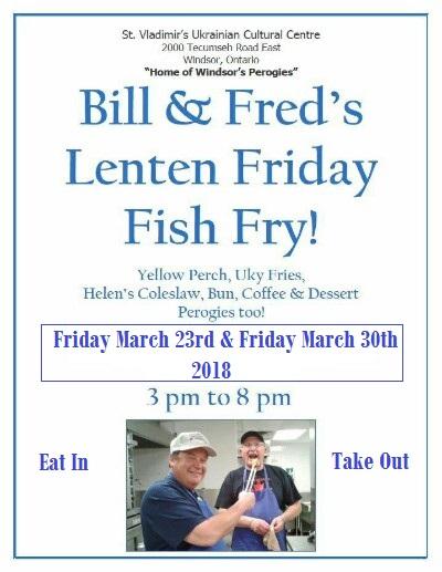 Bill fred 39 s lenten friday fish fry 2018 ukrainian for Fred s fish fry