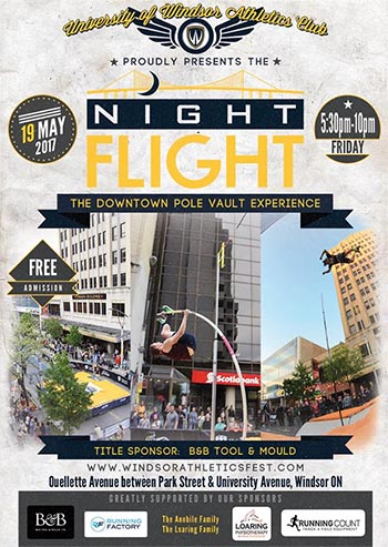 Night Flight Windsor Pole Vault Poster