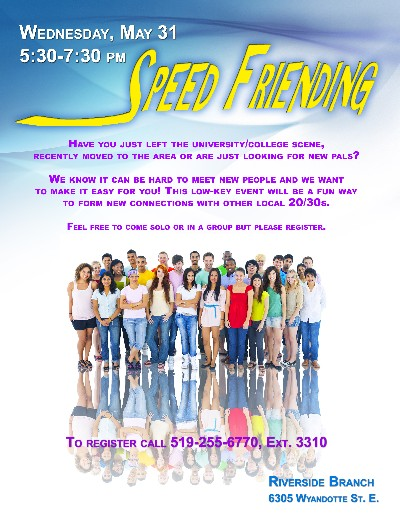 speed friending-poster