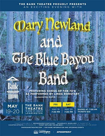 The Bank Theatre Presents Mary Newland and The Blue Bayou Band's Songs From The 70's | Poster