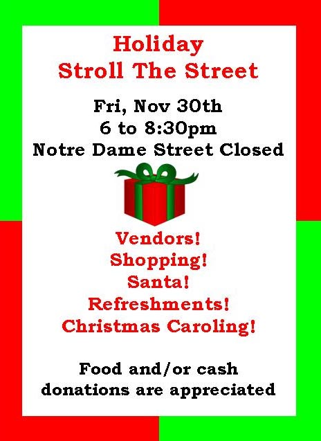 Belle River Stroll The Streets For The Holidays Poster