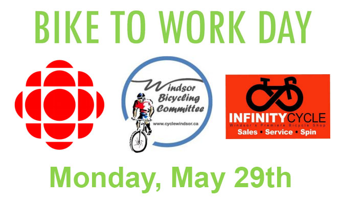 Bike To Work Day With CBC Windsor and Windsor Bicycle Committee