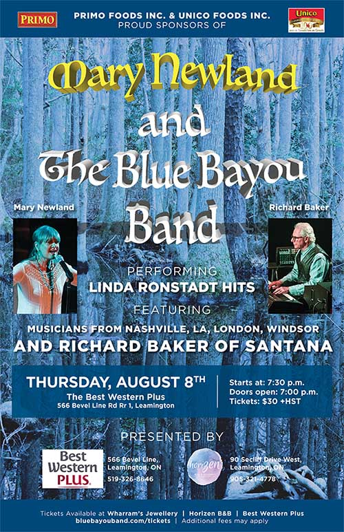 Mary Newland & The Blue Bayou Band's Songs From The 70's Poster