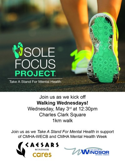 Windsor Walking Wednesdays Kick Off With Sole Focus Project Poster