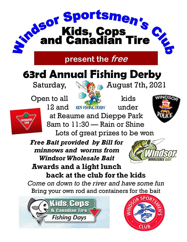 Windsor Police Association Cops And Kids Fishing Derby Poster
