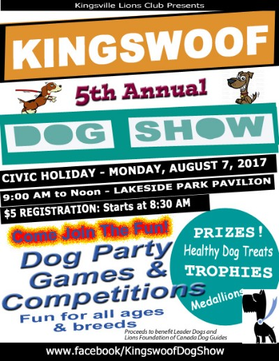 Kingswoof Dog Show Poster