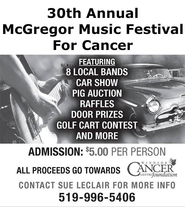 McGregor Music Festival Poster