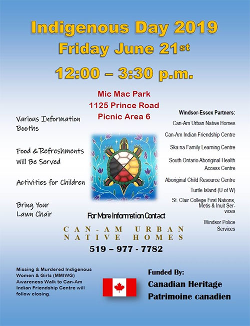 National Aboriginal Day Celebration in Windsor at Mic Mac Park Poster