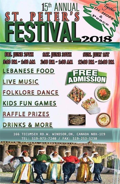 St, Peter's Festival Windsor, Ontario, Poster