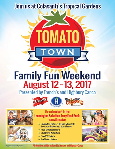 Tomato Town Family Fun Weekend Poster