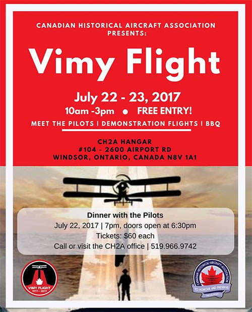 Vimy Flight Tour Windsor, Ontario Poster