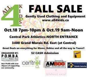 POMBA All4Kids Fall Sale Poster
