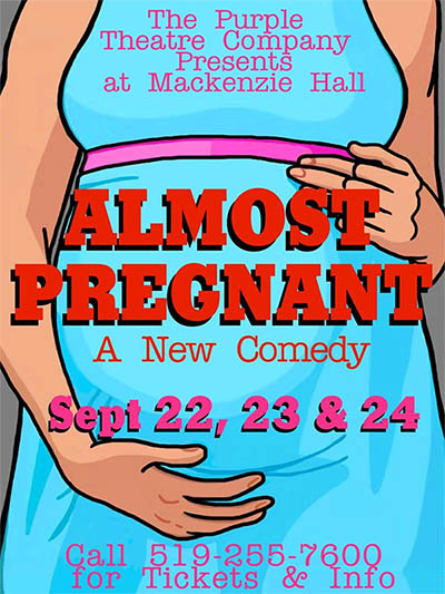 Almost Pregnant by Purple Theatre Company Poster