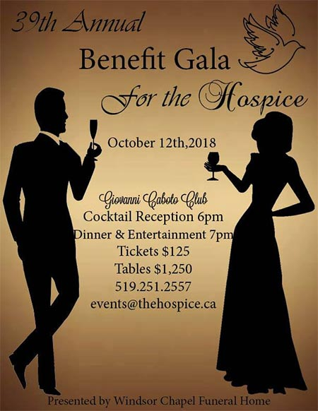 Hospice of Windsor Essex Annual Benefit Gala Poster
