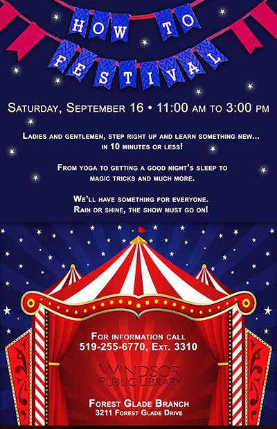 Windsor Public Library How To Festival Poster
