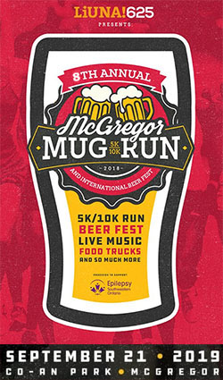 McGroegor Mug Run & International Beer Fest Sidebar Ad