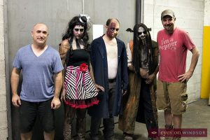 Cast of Scarehouse Windsor with operators Shawn Lippert and Dario Silvaggi