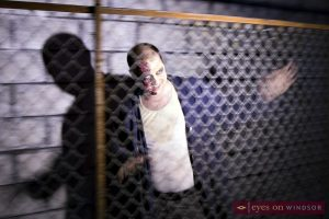 Dr. Eizen prepares to frighten thrill seekers at Scarehouse Windsor.