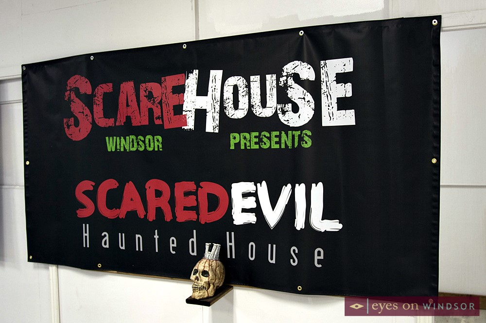 Scarehouse Windsor Scared Evil Haunted House Banner