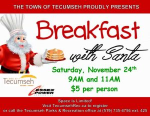 Breakfast With Santa in the Town of Tecumseh Poster