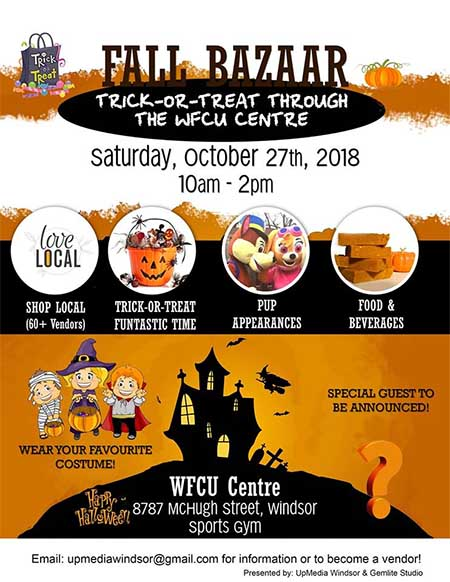 Fall Bazaar & Funtastic Trick or Treating Poster