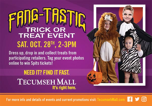 Halloween Trick or Treat Event at Tecumseh Mall