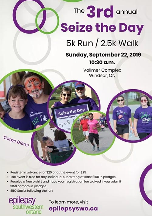 Seize The Day Walk/Run Windsor Poster