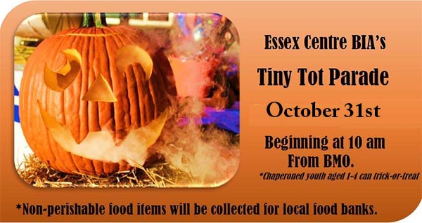 Town of Essex BIA Annual Tiny Tots Trick or Treat Parade