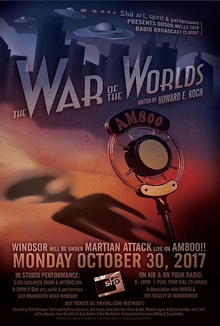War of The Worlds In Studio Broadcast in Windsor, Ontario, Poster